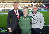 Lee Trundle with academy young man during the Premier League match between Swansea City and Crystal Palace at The Liberty StadiumSwansea, Wales, UK. Saturday 26 November 2016