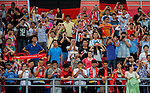 Bayern Munich fans cheers during a friendly match against VfL Wolfsburg as part of the Audi Football Summit 2012 on July 26, 2012 at the Guangdong Olympic Sports Center in Guangzhou, China. Photo by Victor Fraile / The Power of Sport Images