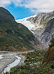 Hiking up the Waiho River Valley to the Franz Josef Glacier