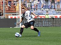 12th September 2021; G.Ferraris Stadium, Genoa, Italy; Serie A football, Sampdoria versus Inter Milan; Milan Skriniar of Inter plays out to the wing