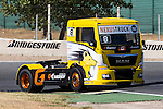 French driver Anthony Janiec belonging Portugese team Lion Truck Racing during the super pole SP1 of the XXX Spain GP Camion of the FIA European Truck Racing Championship 2016 in Madrid. October 01, 2016. (ALTERPHOTOS/Rodrigo Jimenez)