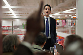 Labour Leader Ed Miliband MP holds a Q&A session with supermarket workers and local residents in Asda, Clapham Junction, ahead of the Chancellor's Autumn Statement