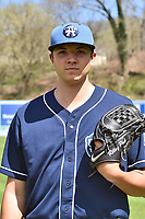 Asheville Tourists starting pitcher Riley Pint (32) during media day at McCormick Field on April 4, 2017 in Asheville, North Carolina. (Tony Farlow/Four Seam Images)