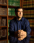 December 22, 2016. North Charleston, South Carolina.<br /> <br /> Michael Slager, in the offices of his attorney Andy Savage. <br /> <br /> Walter Scott was shot on April 4, 2015, in North Charleston, South Carolina after a routine traffic stop by police officer Michael Slager. Fearing an outstanding warrant, Scott fled the scene and was briefly chased and caught  by Slager. After a scuffle, Scott ran again and was shot in the back by Officer Slager. A video taken by eyewitness Feidin Santana captured much of the incident, but some facts between the video and the officer's account were disputed.<br /> <br /> Officer Slager's first trial for murder ended on December 5, 2016 in mistrial after the jury couldn't reach a unanimous decision. The lead prosecutor in the case immediately announced her intent to retry Slager, who has also been indicted by federal prosecutors.