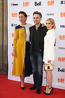 JULIANNE NICHOLSON, DIRECTOR MATTHEW NEWTON AND EMMA ROBERTS - RED CARPET OF THE FILM 'WHO WE ARE NOW' - 42ND TORONTO INTERNATIONAL FILM FESTIVAL 2017