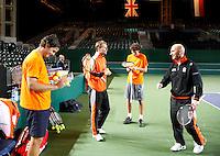 4-4-07, England, Birmingham, Tennis, Daviscup England-Netherlands, training, good atmosphere