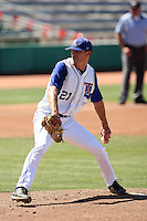 Kyle Roliard #21 of the Louisiana Tech Bulldogs plays against the Fresno State Bulldogs in the Western Athletic Conference post-season tournament at Hohokam Stadium on May 26, 2011 in Mesa, Arizona. .Photo by:  Bill Mitchell/Four Seam Images.