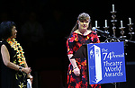 Baayork Lee and Jamie Brewer during the 74th Annual Theatre World Awards at Circle in the Square on June 4, 2018 in New York City.