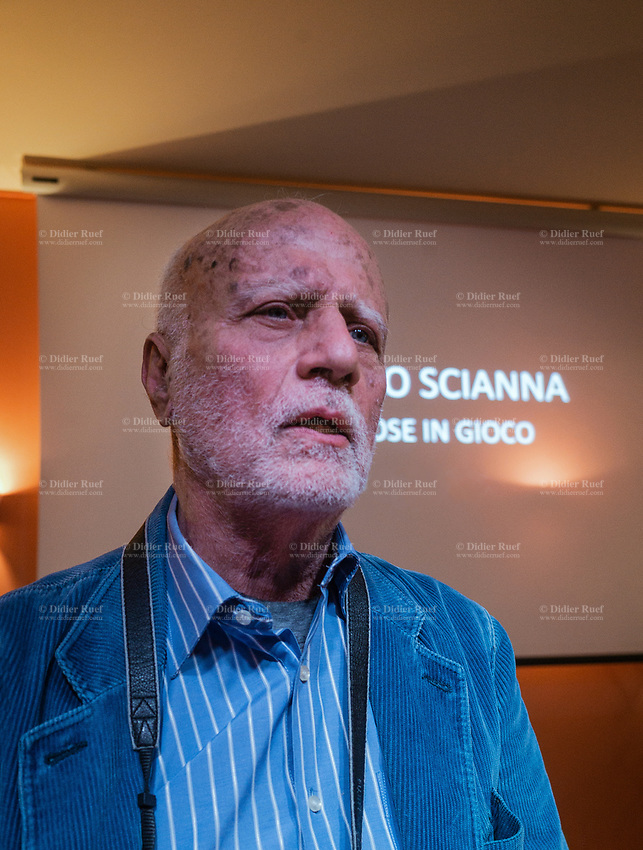 Switzerland. Canton Ticino. Montagnola. Museo Hermann Hesse. Lecture by Magnum photographer, Fernandino Scianna. Ferdinando Scianna (4 July 1943) is an Italian photographer. Scianna won the Prix Nadar in 1966 and became a full member of Magnum Photos in 1989. He has produced numerous books. 16.03.2019 © 2019 Didier Ruef