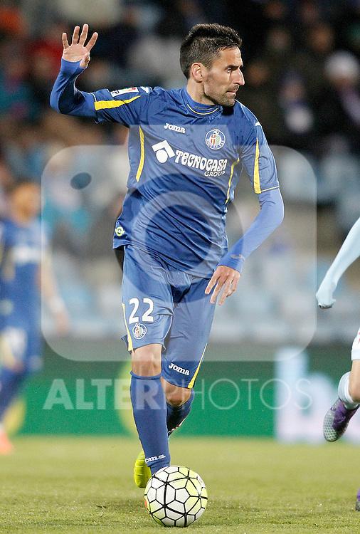 Getafe's Juan Rodriguez during La Liga match. February 27,2016. (ALTERPHOTOS/Acero)