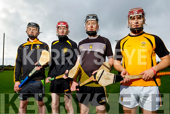Abbeydorney hurlers Colm and Robert McCarthy, Keith O'Connor and Jack Parker ready and eager to resume training and looking forward to the upcoming North Kerry and County Hurling championships.