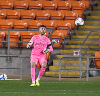 Blackpool's Jack Sims<br /> <br /> Photographer Dave Howarth/CameraSport<br /> <br /> EFL Trophy - Northern Section - Group G - Blackpool v Leeds United U21 - Wednesday 11th November 2020 - Bloomfield Road - Blackpool<br />  <br /> World Copyright © 2020 CameraSport. All rights reserved. 43 Linden Ave. Countesthorpe. Leicester. England. LE8 5PG - Tel: +44 (0) 116 277 4147 - admin@camerasport.com - www.camerasport.com