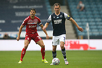 Jed Wallace of Millwall and George Friend of Middlesbrough during Millwall vs Middlesbrough, Sky Bet EFL Championship Football at The Den on 8th July 2020