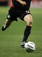 9 April 2005.   Josh Gros (17) sprints upfield at RFK Stadium in Washington, DC.