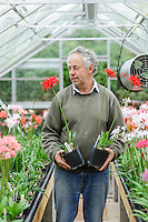 Steve Eyres with Nerines