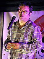 """Paul Sinha performs a live socially distanced stand up comedy show at The Rufus Centre, Flitwick, Beds, UK<br /> Sinha - aka The Sinnerman from TVs The Chase -was diagnosed with Parkinsons Disease, a year ago and said he was determined to """"fight this with every breath I have"""". Flitwick, UK on Saturday September 12th 2020<br /> CAP/ROS<br /> ©ROS/Capital Pictures"""