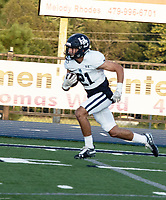 Har-Ber's Malachi Cramer runs withthe ball in the first half of Friday's game At Greenwood.