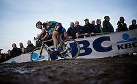 Ellen Van Loy (BEL/Telenet-Fidea) leading the race in the 2nd lap<br /> <br /> UCI Cyclocross World Cup Heusden-Zolder 2015