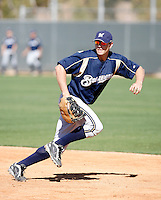 Chris Errecart - Milwaukee Brewers - 2009 spring training.Photo by:  Bill Mitchell/Four Seam Images