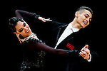 Evgeny Nikitin and Anastasia Milyutina of Russia during the WDSF GrandSlam Standard on the Day 2 of the WDSF GrandSlam Hong Kong 2014 on June 01, 2014 at the Queen Elizabeth Stadium Arena in Hong Kong, China. Photo by AItor Alcalde / Power Sport Images