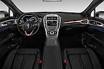 Stock photo of straight dashboard view of 2018 Lincoln MKZ Hybrid-Select 4 Door Sedan Dashboard