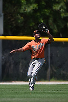 Baltimore Orioles Gregory Lorenzo (36) during a minor league spring training game against the Minnesota Twins on March 28, 2015 at the Buck O'Neil Complex in Sarasota, Florida.  (Mike Janes/Four Seam Images)