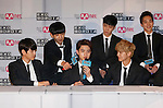 EXO, Aug 11, 2014 : South Korean-Chinese K-Pop idol boy band EXO attend a presentation for their new show on Mnet, 'EXO 90:2014', at CJ E&M Center in Seoul, South Korea.  (Photo by Lee Jae-Won/AFLO) (SOUTH KOREA)