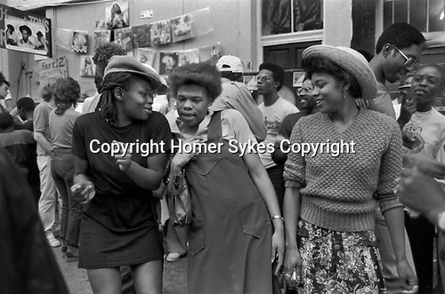 Teenage black girls Notting Hill Carnival London 1981. 1980s UK