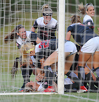 NWA Democrat-Gazette/ANDY SHUPE<br /> Arkansas Penn State Friday, Aug. 25, 2017, during the Razorbacks' 4-2 loss at Razorback Field in Fayetteville. Visit nwadg.com/photos to see more photographs from the match.