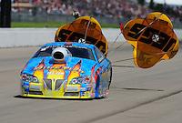 May 21, 2011; Topeka, KS, USA: NHRA pro stock driver Greg Stanfield during the Summer Nationals at Heartland Park Topeka. Mandatory Credit: Mark J. Rebilas-