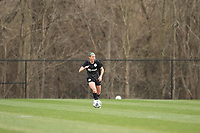 LOUISVILLE, KY - MARCH 13: Erin Simon #3 of Racing Louisville FC looks to pass the ball during a game between West Virginia University and Racing Louisville FC at Thurman Hutchins Park on March 13, 2021 in Louisville, Kentucky.