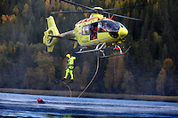 Norwegian Air Ambulance training area Camp Torpomoen. Pilots, doctors and rescue paramedics practice various skills during a week of coordinated training.