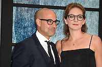 "Stanley Tucci and wife, Felicity Blunt<br /> at the premiere of ""The Girl on the Train"", Odeon Leicester Square, London.<br /> <br /> <br /> ©Ash Knotek  D3156  20/09/2016"