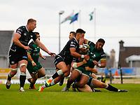 4th June 2021; Galway Sportsgrounds, Galway, Connacht, Ireland; Rainbow Cup Rugby, Connacht versus Ospreys; Bundee Aki drives forward for Connacht