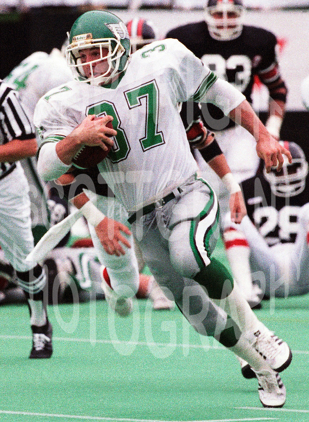 David Conrad Saskatchewan Roughriders 1987. Photo F. Scott Grant