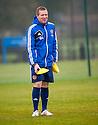 Hearts' manager Gary Locke at today's training.