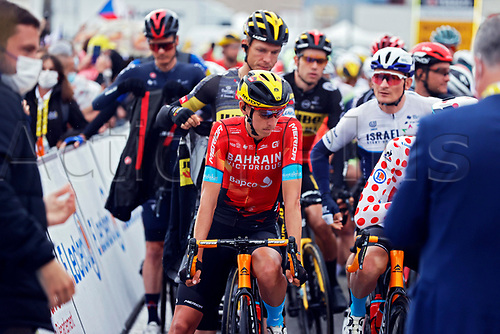 4th July 2021; Tignes, France;  TEUNS Dylan (BEL) of BAHRAIN VICTORIOUS during stage 9 of the 108th edition of the 2021 Tour de France cycling race, a stage of 144,9 kms between Cluses and Tignes on July 4