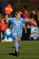 North Carolina Tar Heels forward Casey Nogueira (54) celebrates scoring her first goal. The North Carolina Tar Heels defeated the Notre Dame Fighting Irish 2-1 during the finals of the NCAA Women's College Cup at Wakemed Soccer Park in Cary, NC, on December 7, 2008. Photo by Howard C. Smith/isiphotos.com