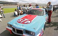 Richard Petty 43 Pontiac on pit road grid Firecracker 400 at Daytona International Speedway in Daytona Beach, FL on July 4, 1983. (Photo by Brian Cleary/www.bcpix.com)