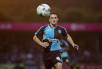 Stephen McGinn of Wycombe Wanderers chases down the ball on his debut during the Capital One Cup match between Wycombe Wanderers and Fulham at Adams Park, High Wycombe, England on 11 August 2015. Photo by Andy Rowland.