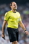 Referee Antonio Miguel Mateu Lahoz smiles during the La Liga 2017-18 match between Real Madrid and Real Betis at Estadio Santiago Bernabeu on 20 September 2017 in Madrid, Spain. Photo by Diego Gonzalez / Power Sport Images