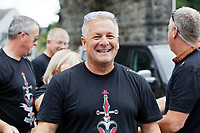 Pictured: A man believed to be Gareth Thomas' husband. Sunday 15 September 2019<br /> Re: Ironman triathlon event in Tenby, Wales, UK.