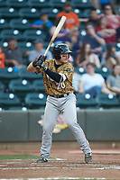 Matt Whatley (20) of the Down East Wood Ducks at bat against the Winston-Salem Dash at BB&T Ballpark on May 12, 2018 in Winston-Salem, North Carolina. The Wood Ducks defeated the Dash 7-5. (Brian Westerholt/Four Seam Images)