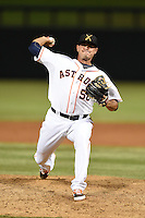 Salt River Rafters pitcher Tyson Perez (50) during an Arizona Fall League game against the Peoria Javelinas on October 17, 2014 at Salt River Fields at Talking Stick in Scottsdale, Arizona.  The game ended in a 3-3 tie.  (Mike Janes/Four Seam Images)