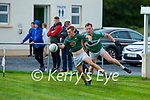 Shane Conway Finuge gets away from Conor O'Keeffe Listry during their Junior Premier Championship game in Fr Myles Allman Park Listry on Saturday