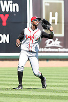June 15th 2008:  Left fielder Johermyn Chavez of the Lansing Lugnuts, Class-A affiliate of the Toronto Blue Jays, during a game at Dow Diamond in Midland, MI.  Photo by:  Mike Janes/Four Seam Images