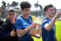 Action from the Wellington 1st XV Tranzit Coachlines premiership secondary schools rugby union match between Aotea College and Mana College at Aotea College in Wellington, New Zealand on Wednesday, 26 August 2020. Photo: Dave Lintott / lintottphoto.co.nz