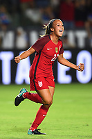Carson, CA - Thursday August 03, 2017: Mallory Pugh during a 2017 Tournament of Nations match between the women's national teams of the United States (USA) and Japan (JPN) at the StubHub Center.