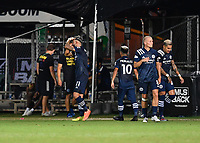 LAKE BUENA VISTA, FL - JULY 26: Valentín Castellanos of New York City FC celebrates a goal during a game between New York City FC and Toronto FC at ESPN Wide World of Sports on July 26, 2020 in Lake Buena Vista, Florida.