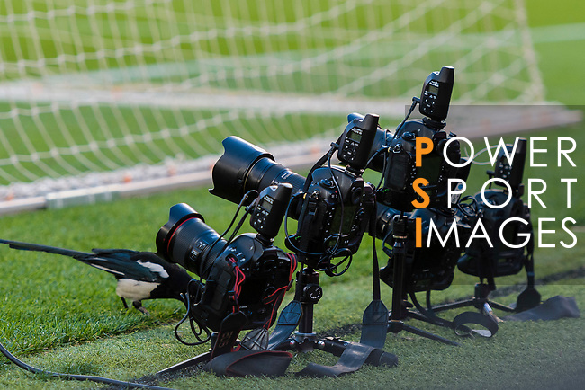 Photographer's remote cameras installed behind the gate during the La Liga 2018-19 match between FC Barcelona and Real Betis at Camp Nou, on November 11 2018 in Barcelona, Spain. Photo by Vicens Gimenez / Power Sport Images